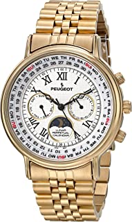 Peugeot Vintage Multi-Function Watch, Perpetual Calendar with Moon Phase
