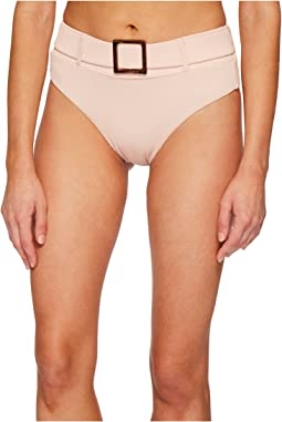 Secret Garden Belted High-Waist Bikini Bottom