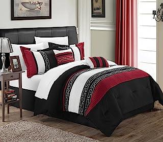 Chic Home Comforter Set, Black, Queen