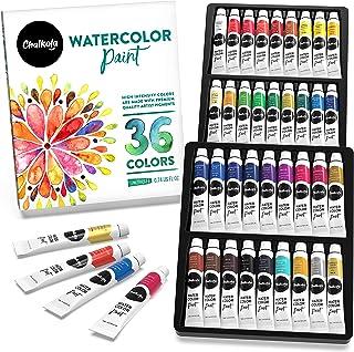 مجموعه رنگ آبرنگ (36 رنگ ، لوله های 12 میلی لیتری ، 0.4 اونس) | رنگدانه غنی ، رنگهای پر جنب و جوش ، غیر سمی برای نقاشان ، کودکان ، بزرگسالان ، مبتدی
