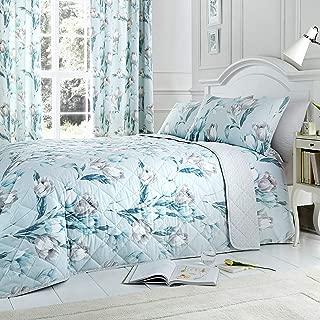 Dreams & Drapes - Tulip - Easy Care Bedspread - 195 x 229cm, Duck Egg
