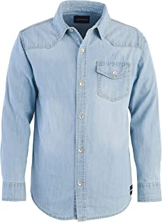 Calvin Klein Big Boys' Long Sleeve Denim Shirt