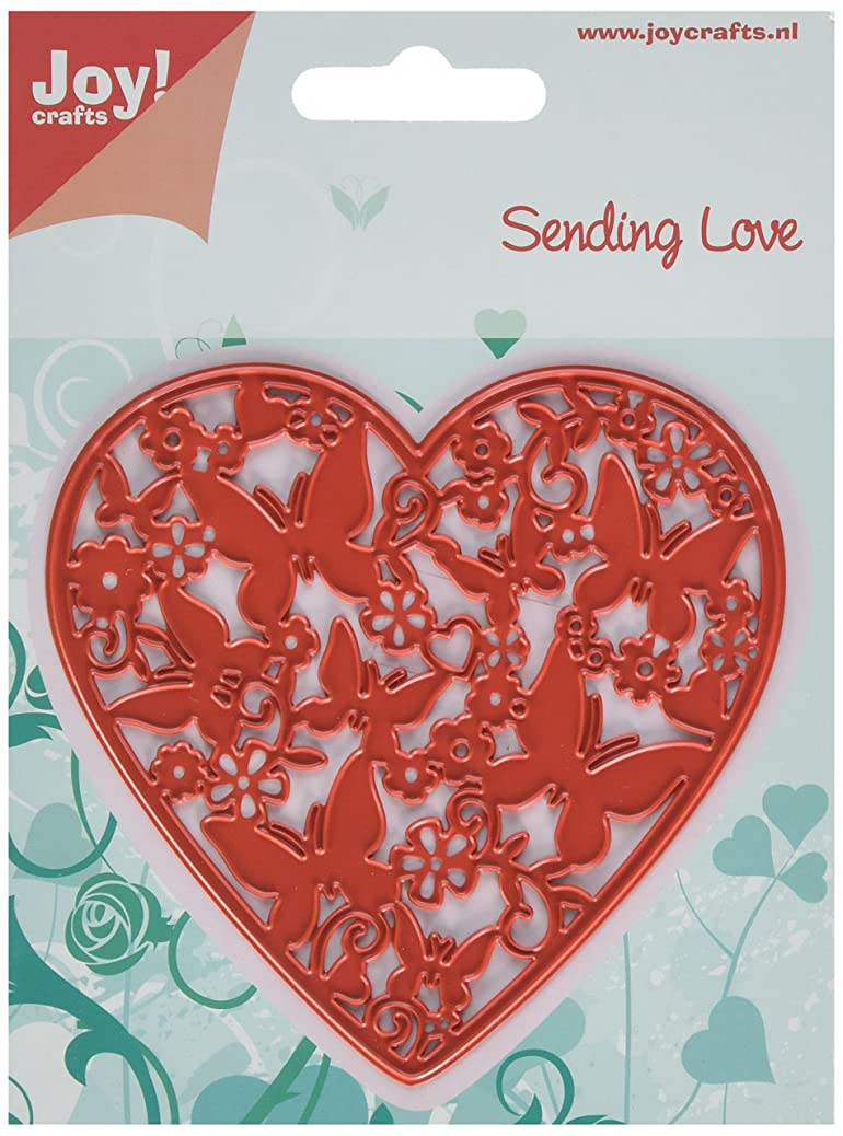 Joy Craft Cutting and Embossing Stencil, Sending Love Heart Filled with Butterflies seviqkvtrf