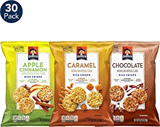 Quaker Rice Crisps, Gluten Free, 3 Flavor Sweet Variety Mix, Single Serve 0.67oz, 30 count