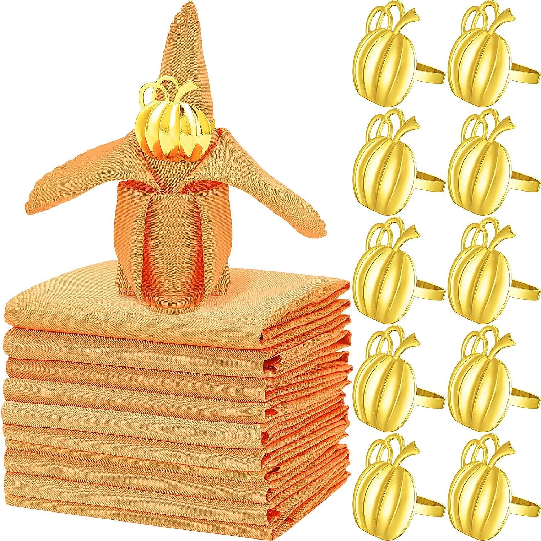 20 Pieces Thanksgiving Napkins Seasonal Cheap SALE Start Wrap Introduction Set Orange Clo 10 Kitchen