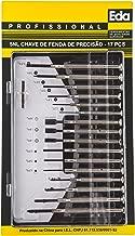 Chaves para relojoeiro com 17 peças, Eda, 5NL, Preto