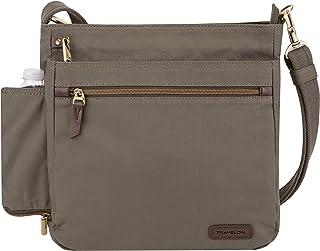 Travelon Travelon Anti-theft Courier N/S Crossbody, Stone Gray (gray) - 33304-840