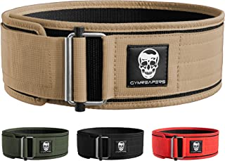 Gymreapers Self Locking Weightlifting Belt for Bodybuilding, Powerlifting, Cross Training - 4 Inch Neoprene with Metal Buc...