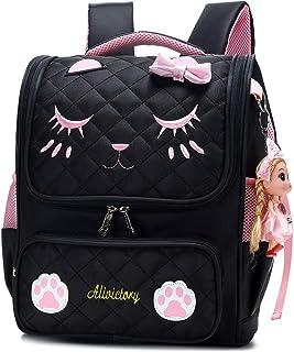 Backpack for Kids Grils, Cute Cat School Bags Toddler Backpacks Preschool Primary Bookbags