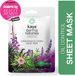 Kaya Clinic 5-Herb Instant Oil Control Facial Mask, 20 g