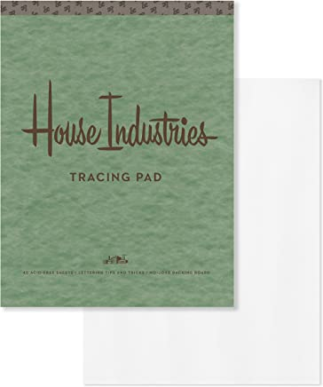 House Industries Tracing Pad: 40 Acid-Free Sheets, Lettering Tips, Extra-Thick Backing Board