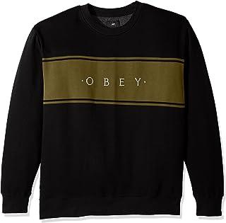 OBEY Men's Roebling Crew Neck Fleece Sweatshirt