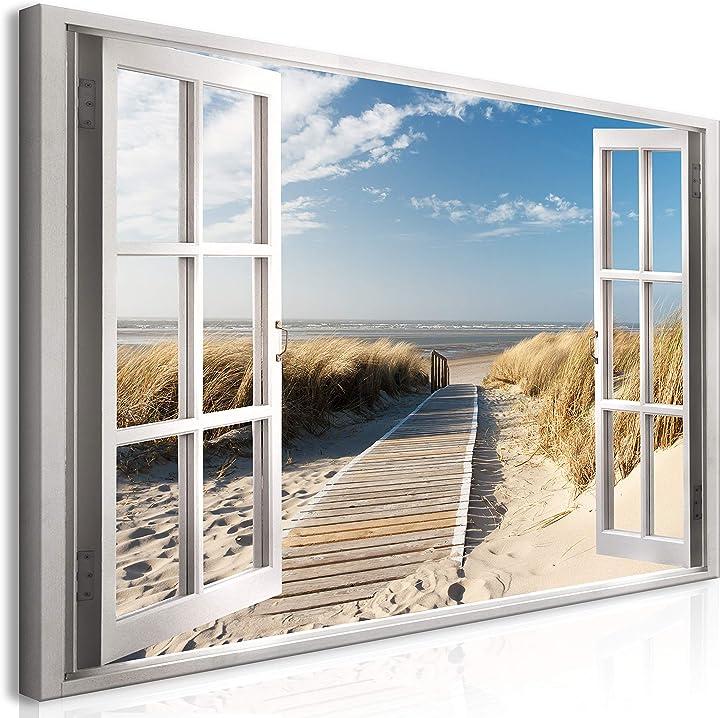 Quadro mega xxxl finestra 270x135 cm straordinario stampa su tela xxxl murando it-c-C-0179-ak-e-xxl