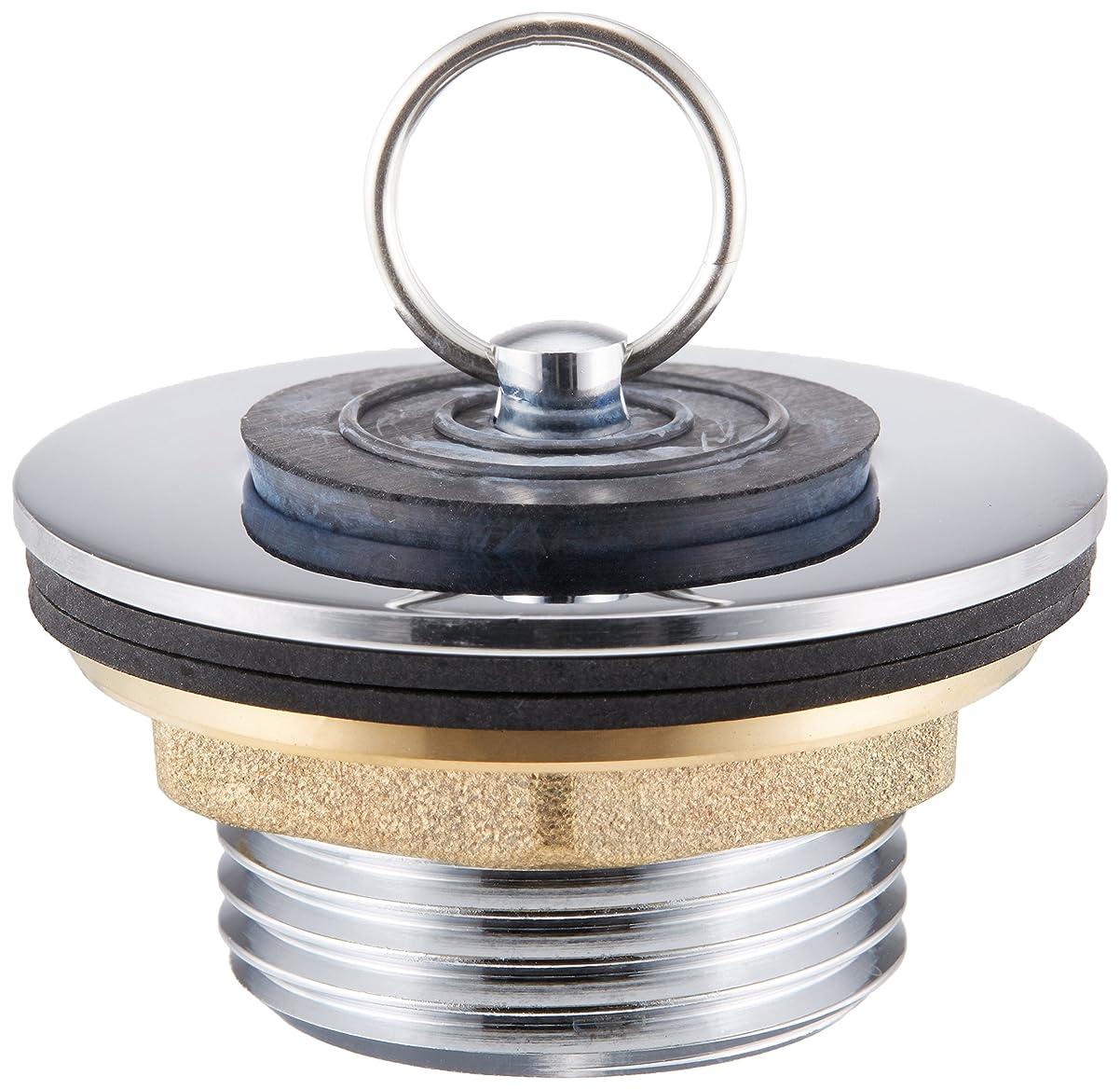 ミシン目一貫性のないチャートカクダイ ゴム栓つきウラネジ風呂栓 4121-25