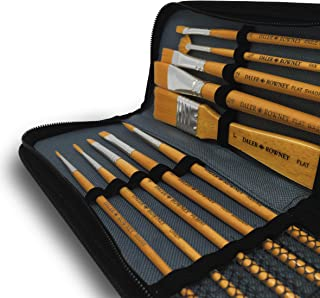 Daler Rowney - Simply Gold Taklon Paint Brush Set and Zip Case - Set of 10 Brushes