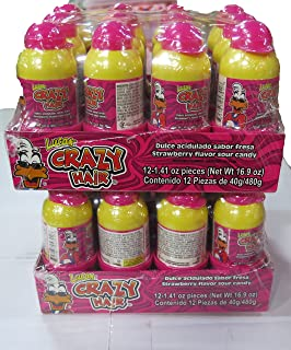 Crazy Hair Strawberry 2 Pack 24 count ( From Candy World)