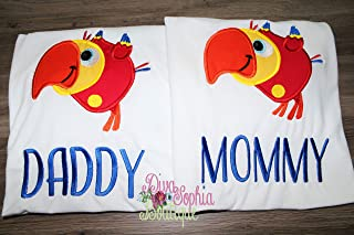 Daddy and Mommy Baby First TV VocabuLarry T-shirts Set of 2