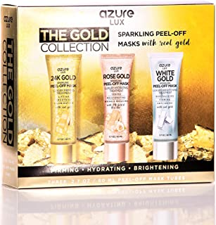 Gold Peel Off Face Mask Gift Set Collection - 24K   Rose Gold   White Gold - 80ml