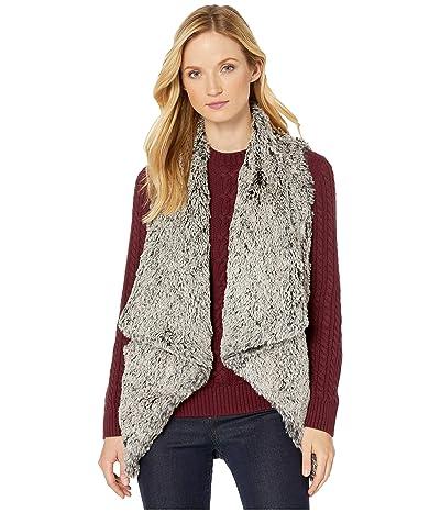 Democracy Sleeveless Draped Faux Fur Vest (Taupe/Grey) Women
