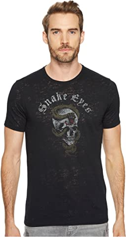 John Varvatos Star U.S.A. - Snake Eyes Graphic Tee K3525T4B