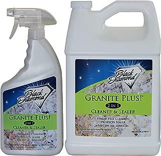Granite Plus! 2 in 1 Cleaner & Sealer for Granite, Marble, Travertine, Limestone, Ready to Use! (1-Quart +1-Gallon)