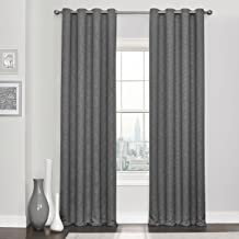 """ECLIPSE Blackout Curtains for Bedroom - Kingston 52"""" x 63"""" Insulated Darkening Single Panel Grommet Top Window Treatment L..."""
