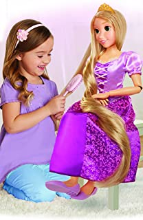 """Disney Princess Rapunzel 32"""" Playdate, My Size Articulated Doll, Comes with Brush To Comb Her Long Golden Locks, Movie Ins..."""