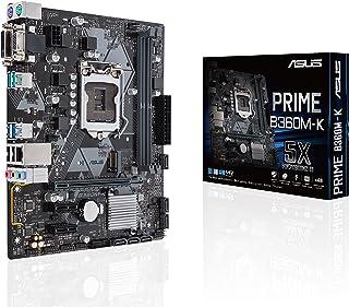 ASUS PRIME B360M-K - Placa Base mATX Intel de 8a y 9a gen. LGA1151 con iluminación LED, DDR4 2666 MHz, soporte M.2, SATA 6 Gbps y USB 3.1 Gen. 2