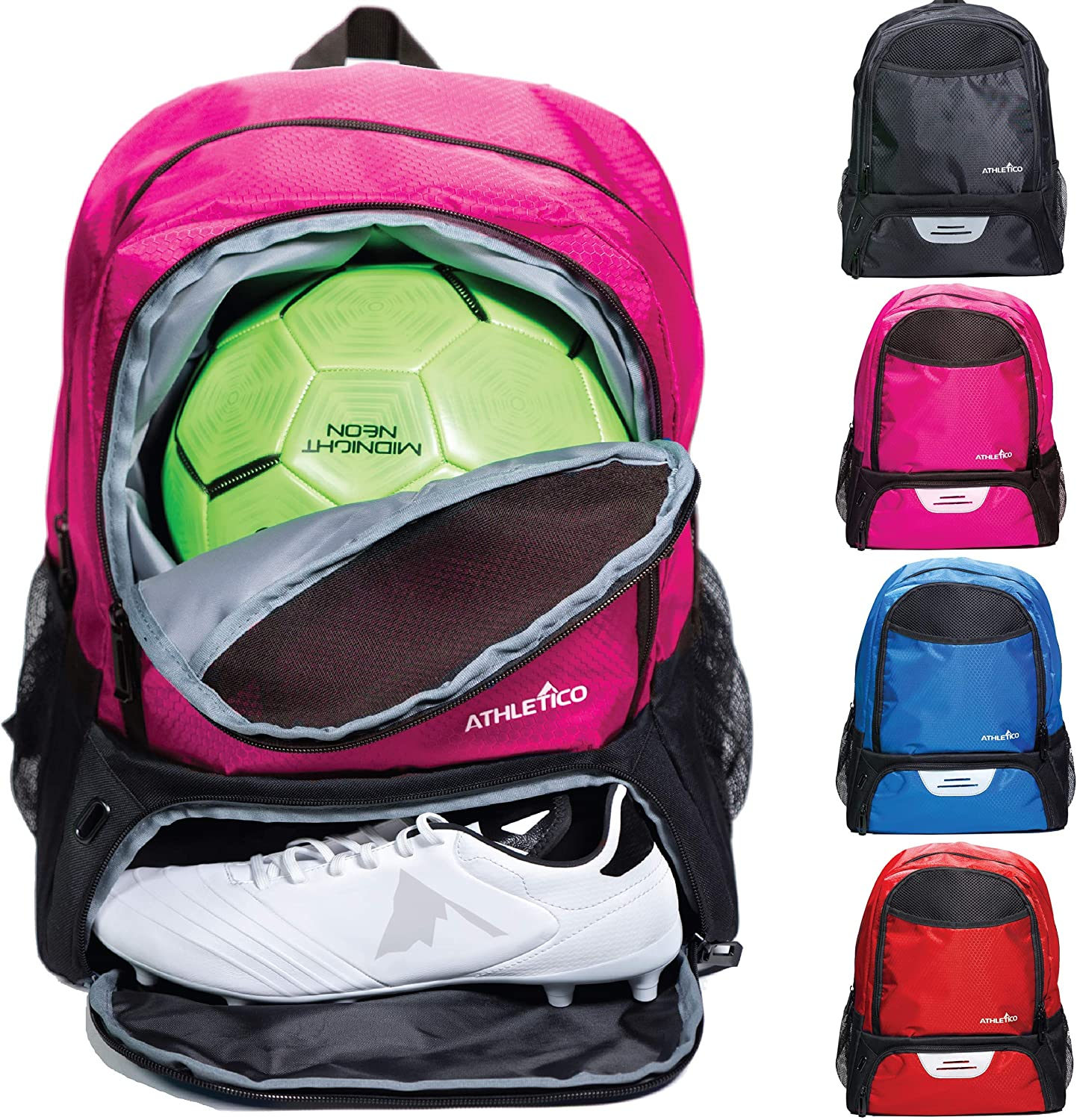 Athletico Youth Soccer Deluxe Bag Ranking TOP1 - Backpack for Basketba Bags
