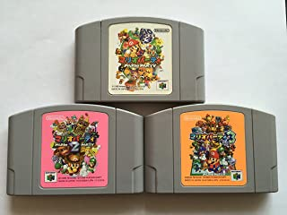 Mario Party 1,2 and 3 WILL WORK IN US N64, Japanese language import