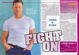 Jacob Young (Rick Forrester, Bold and the Beautiful) 4 Page Interview Article (Clippings) from 2014 CBS Soaps in Depth Magazine [SOAP OPERA]