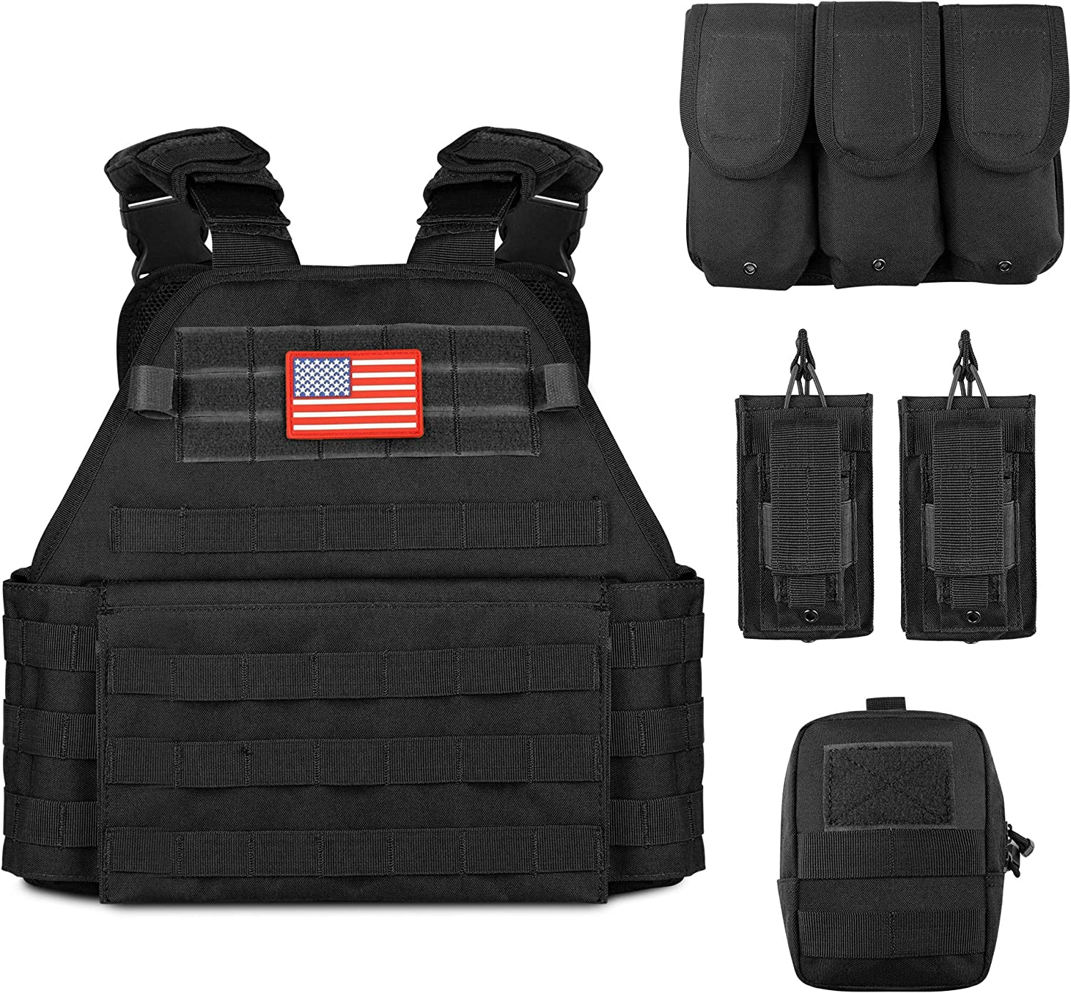 Obemisk Tactical Vest Outdoor A Limited time trial price Lightweight 5 ☆ popular Combat Training