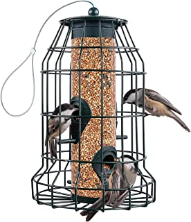 Squirrel Resistant Bird Feeders 22 oz. Large Bird Feeder with 4 Perches For Small Backyard Birds ONLY. Bird Feeder Squirre...