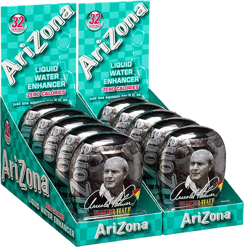 AriZona Arnold Palmer Tea Half Lemonade Half Iced Tea Liquid Water Enhancer LWE Pack Of 10 Low Calorie Single Serving Liquid Drink Mix Just Add Water For Refreshing Iced Tea Drink