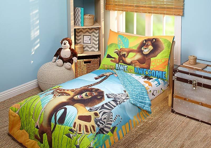 Disney DreamWorks Animation Madagascar Behold My Mane 4 Piece Toddler Bedding Set Toddler