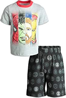 Spiderman Active Short and Shirt Set Performance T Shirt 2 Pc Marvel