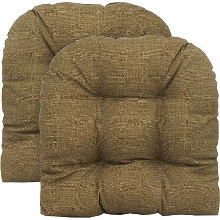 RSH D\u00e9cor Indoor ~ Outdoor Sunbrella Canvas Hot Pink Foam Contour U-Shape Chair Cushion