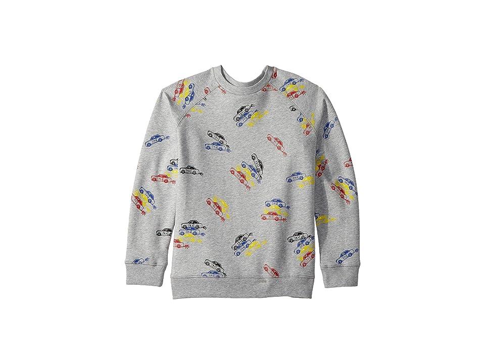 Stella McCartney Kids Billy Long Sleeve All Over Cars Fleece Sweater (Toddler/Little Kids/Big Kids) (Grey) Boy