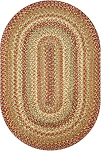 Homespice Oval Jute Braided Rugs, 27-Inch by 45-Inch, Harvest