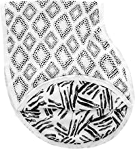 aden + anais Silky Soft Burpy Bib, 100% Viscose from Bamboo Muslin, Soft Absorbent 4 Layers, Multi-Use Burp Cloth and Bib, 22.5'' X 11'', Single, In Motion - Diamonds