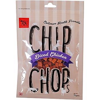 Chip Chops Dog Treat Diced Chicken, 70g, Optimum Health Formula (Single Pack)