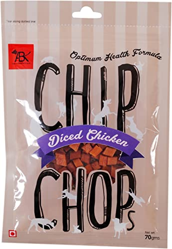 Chip Chops Dog Treat Diced Chicken, 70g, Optimum Health Formula (Single Pack)