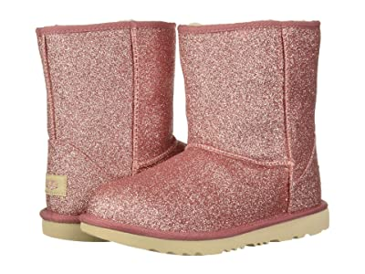 UGG Kids Classic Short II Glitter (Little Kid/Big Kid) (Pink 1) Girls Shoes