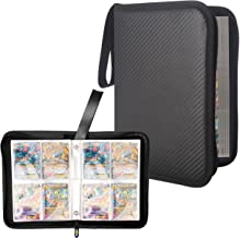 Totem World Black Zipper Binder with 25 4-Pocket Side-Loading Pages - Fits Pokemon, Yu-Gi-Oh, and Magic The Gathering Cards