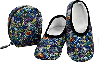 Snoozies Skinnies & Travel Pouch | Purse Slippers for Women | Travel Flats with Pouch | Womens Slippers On The Go