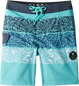"VISSLA Kids Midnight Palms Four-Way Stretch Boardshorts 17"" (Big Kids)"