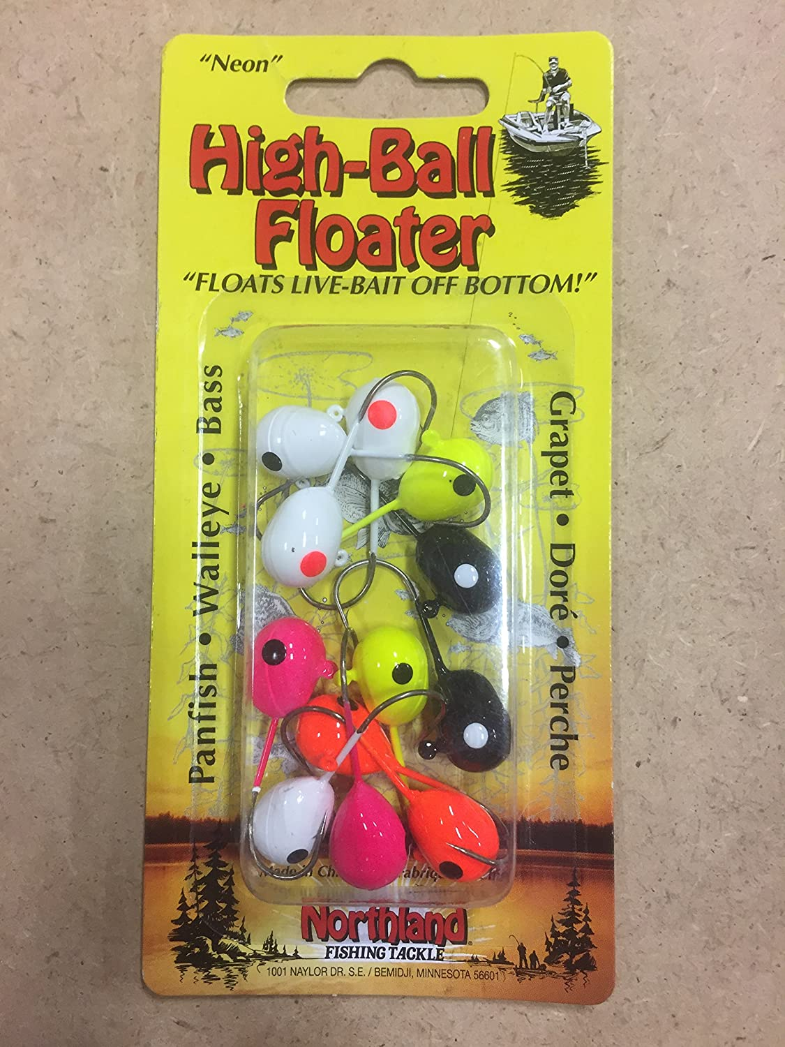 Overseas parallel import regular item Northland It is very popular Tackle FJ1-12-99 High-Ball Floater 1 #1 Assorted Bait