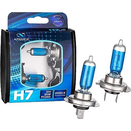 2 X H7 Autolight24 55w Abblendlicht Xenon Look Halogen Lampen 6000k H7 Auto