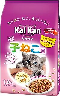 カルカン ドライ 12か月までの子ねこ用 かつおと野菜味ミルク粒入り 1.6kg <KD24>