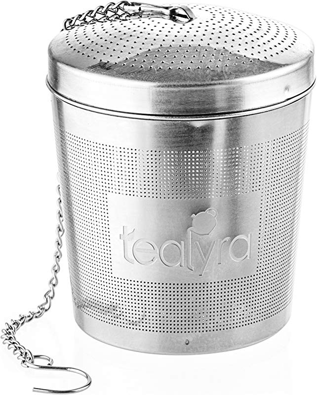 Tealyra EasyTEA Tea Infuser Ball Mesh Strainer Large Capacity And Perfect Size For Hanging In Teapots Mugs Cups To Steep Loose Leaf Tea And Herbs